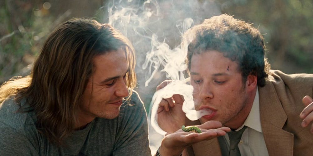 Pineapple Express James Franco and Seth Rogen trying to get a caterpillar high