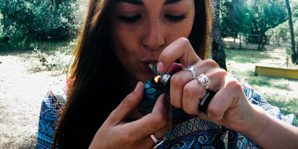 mom smokes with her 14 year old daughter