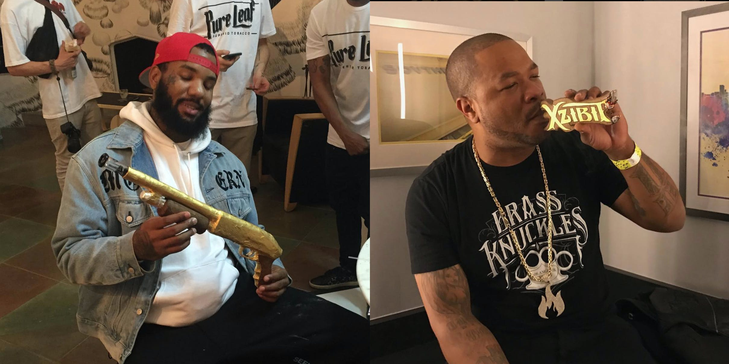 Xibit and famous rappers smoke blunts made by an instagram celebrity
