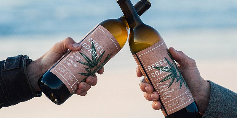 Rebel Coast Winery Cannabis Wine