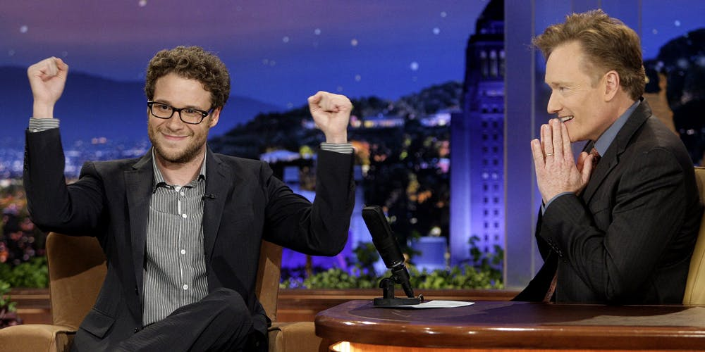Conan says Rogen almost justifies smoking weed