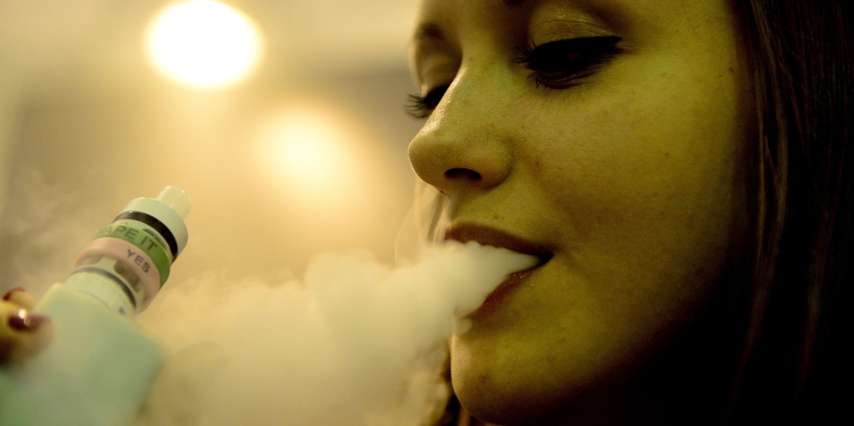 Women smoking a vape