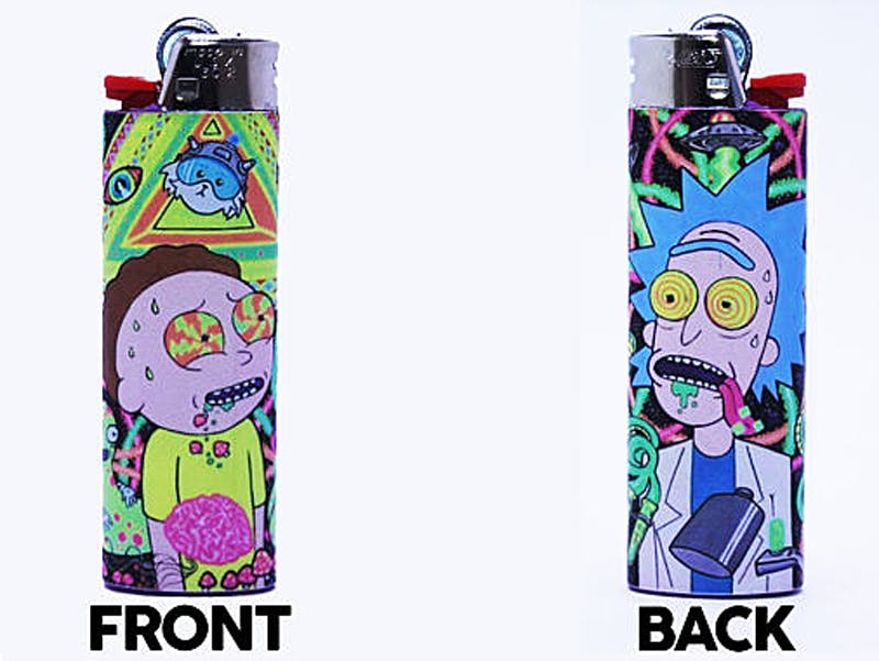 Photo courtesy of personalizedlightersviaetsy 7 things for weed smokers who love Rick and Morty