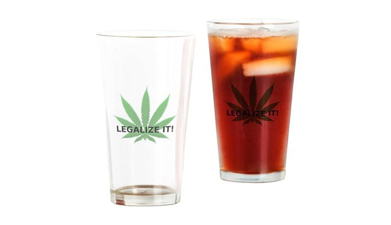 legalize it leaf drinking glass How to microdose weed and treat anxiety