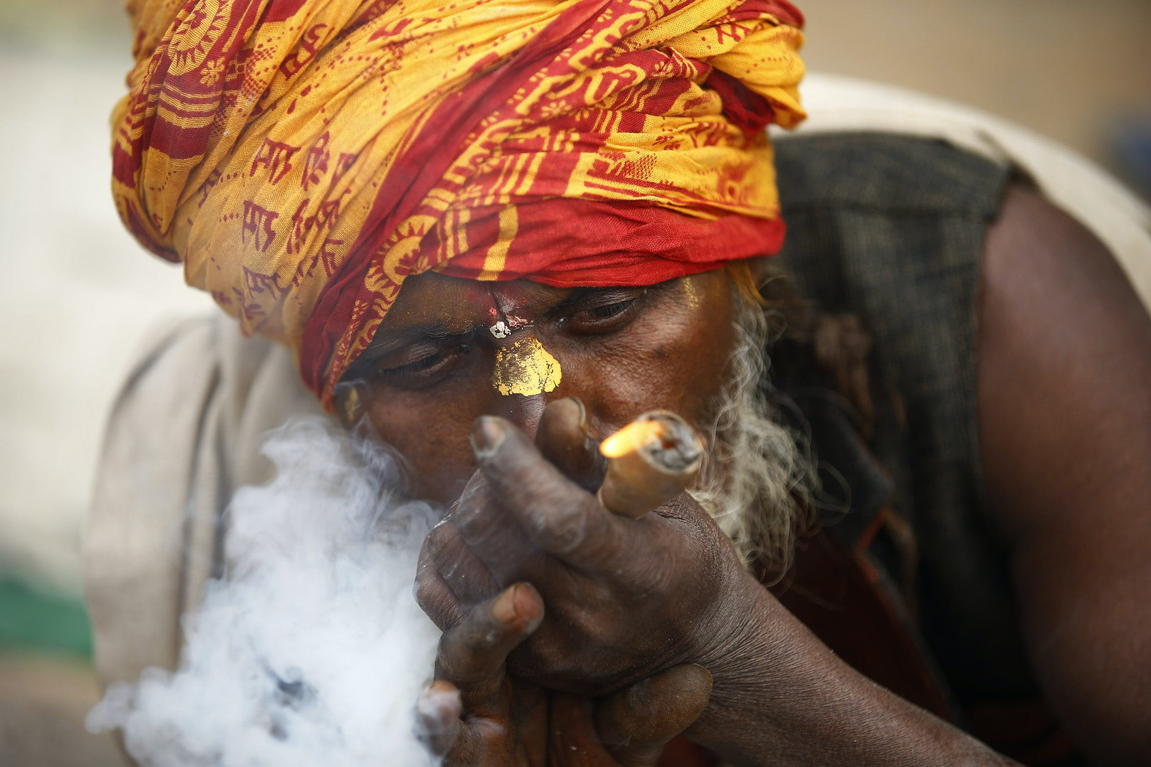 58W2099 Inside the festival in Nepal where smoking weed is holy