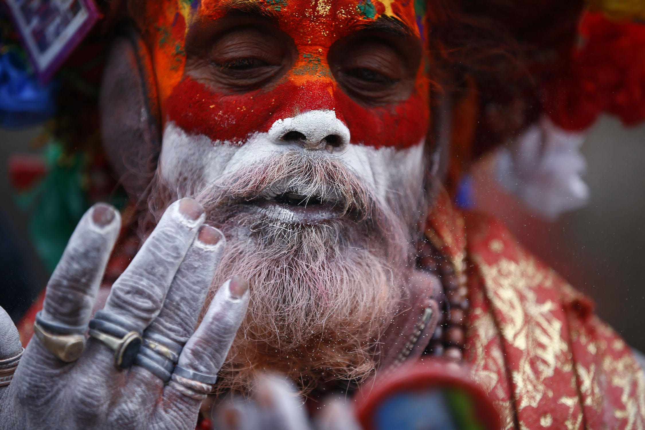 58W2318 Inside the festival in Nepal where smoking weed is holy