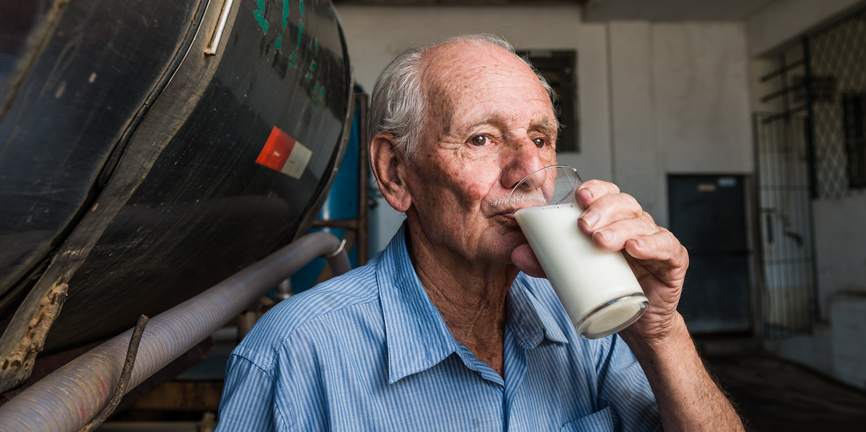 Milk trucker driver