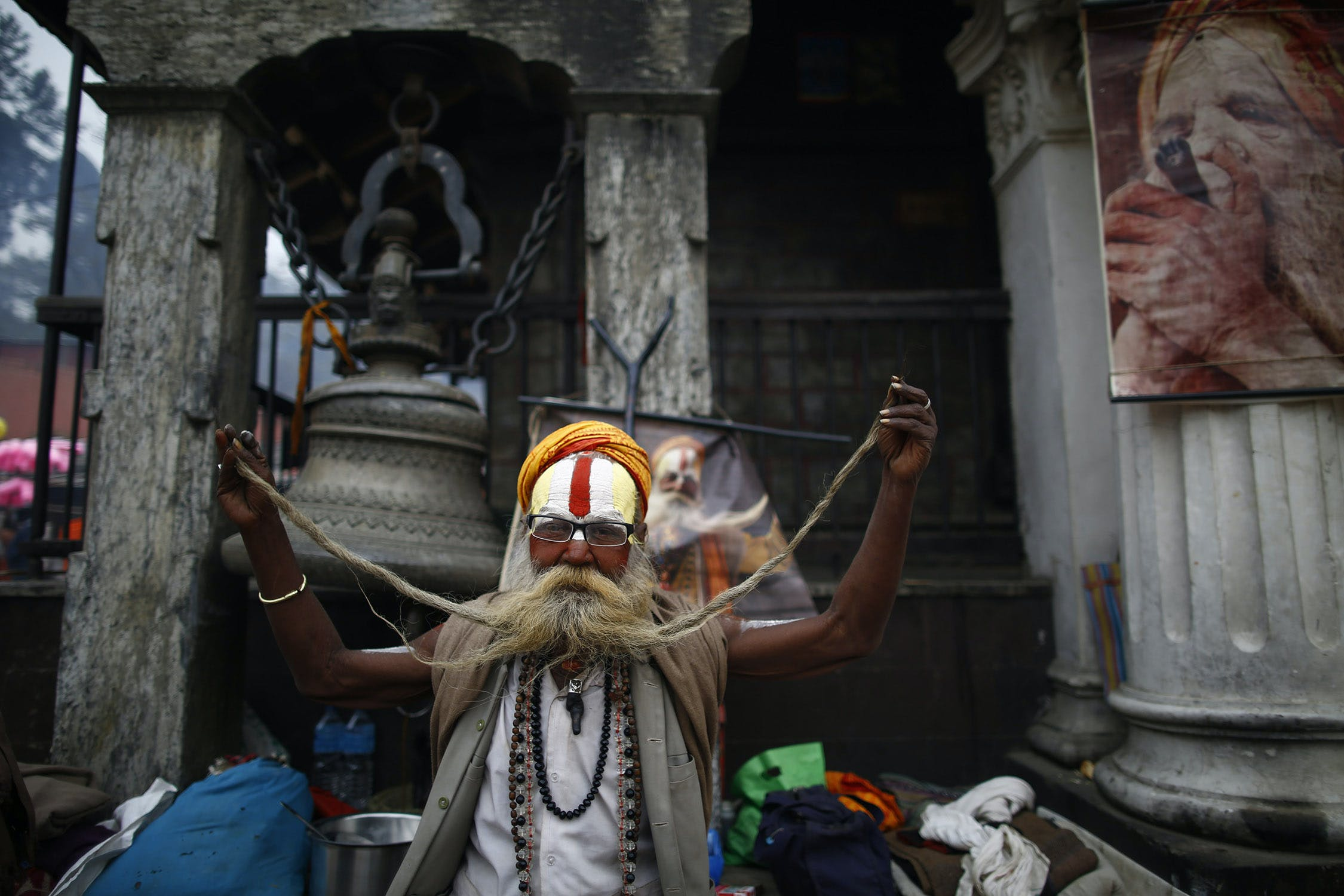 KAN1783 Inside the festival in Nepal where smoking weed is holy
