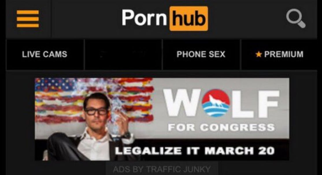 PornhubBenjaminWolf Voters, beware: We interviewed the Cannabis Candidate and hes full of it