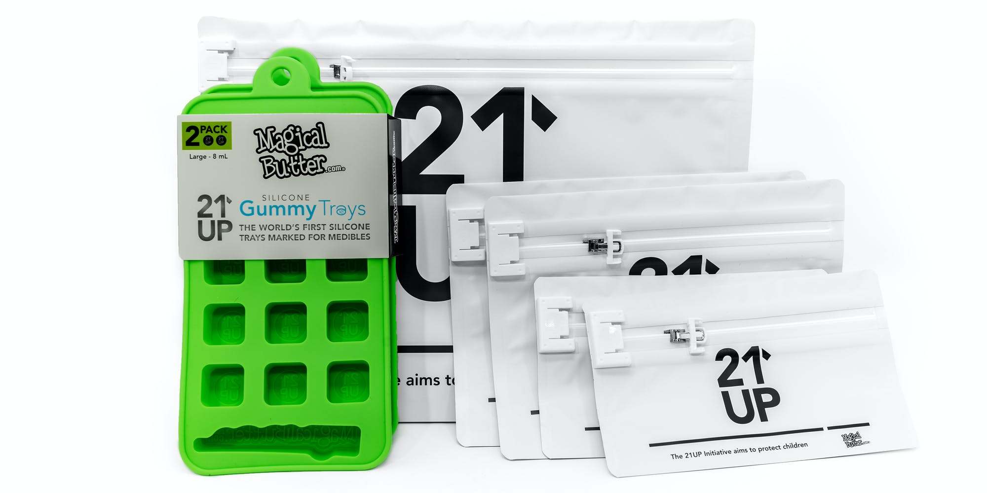 MB's 21UP Exit Bags are the safest solution to keeping your edibles away from the wrong hands