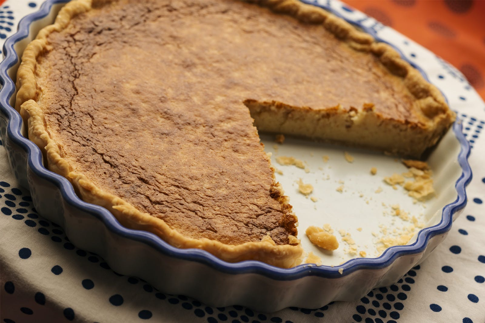 Cannabis Infused Coconut Custard Pie
