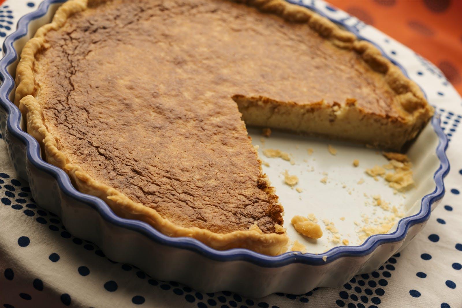 Cannabis Infused Coconut Custard Pie