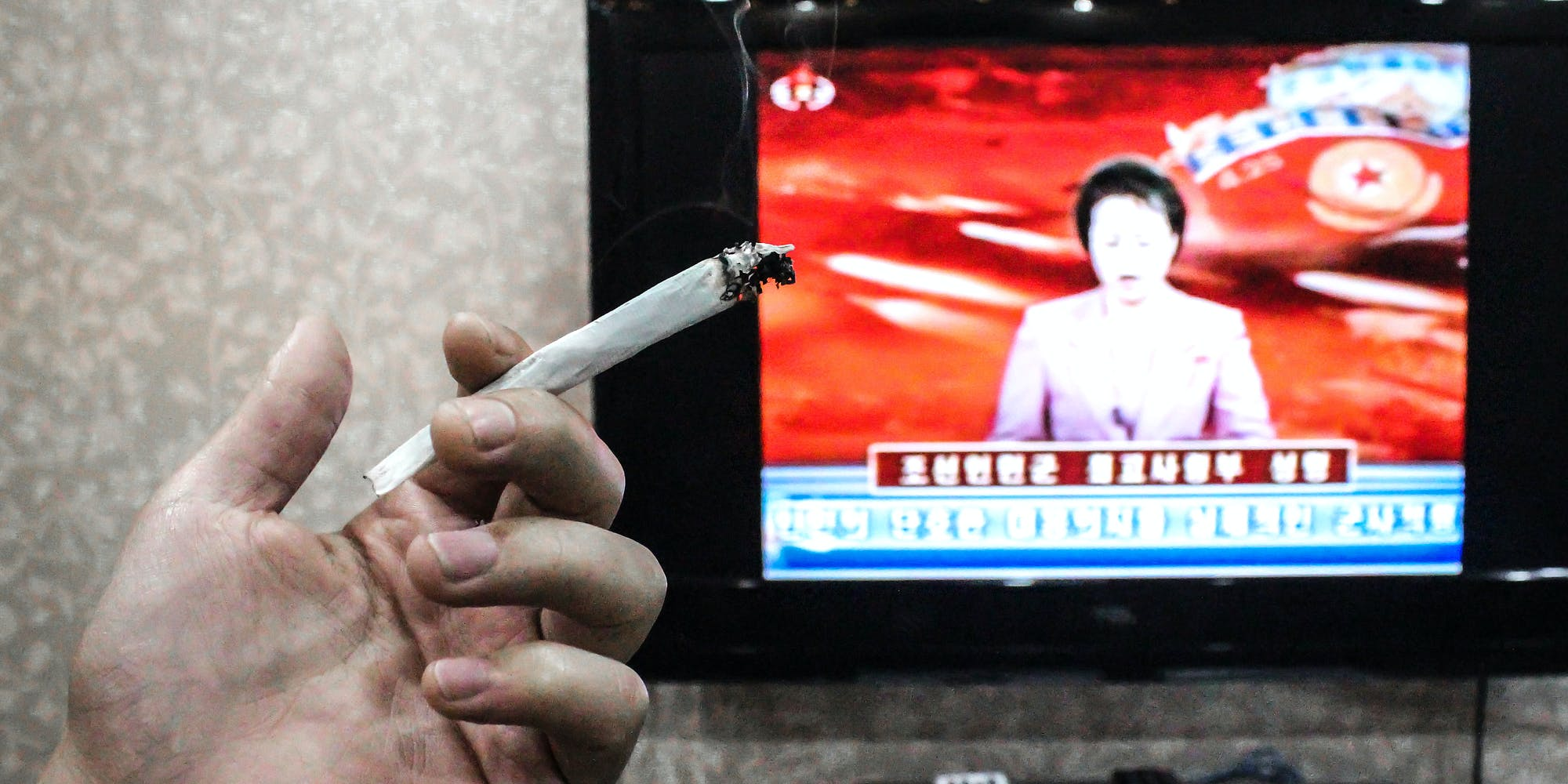 Rare Photos Of Weed Smoking In North Korea