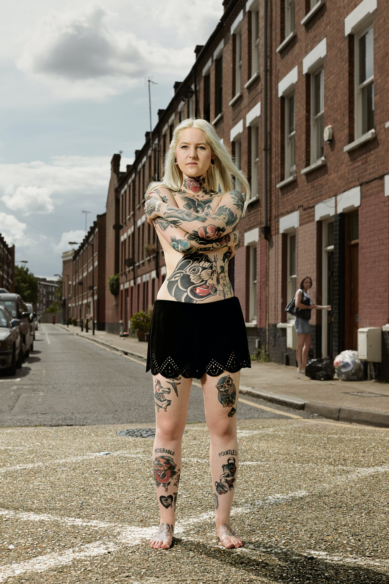 After image of a woman Devoted To Full Body Tattoos