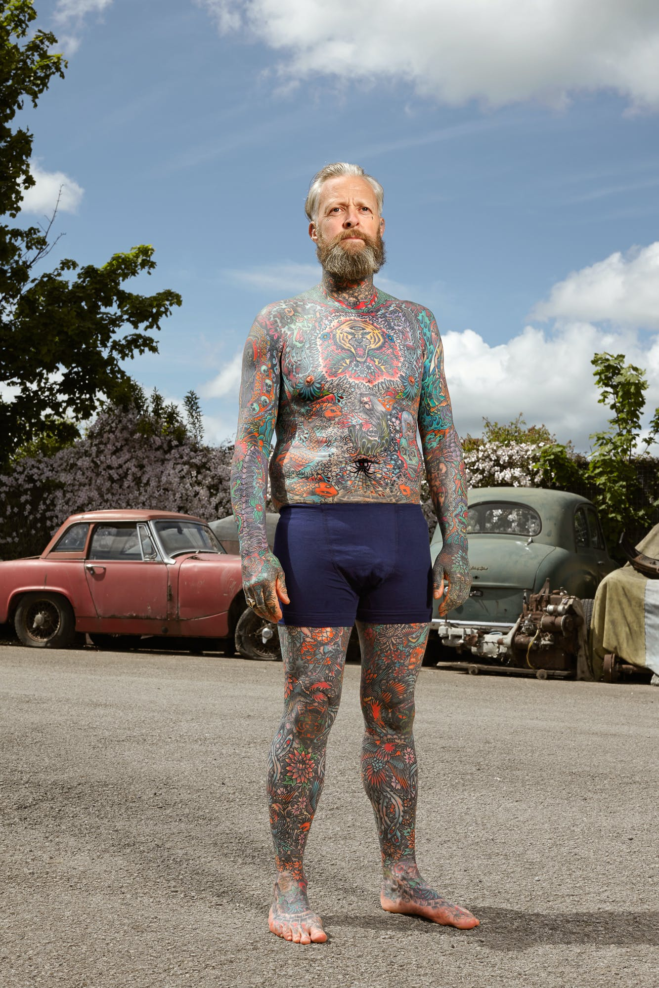Alan Powdrill Raw Portraits Of The People Devoted To Full Body Tattoos 18 Manhattans District Attorney Will No Longer Prosecute Low Level Cannabis Crimes
