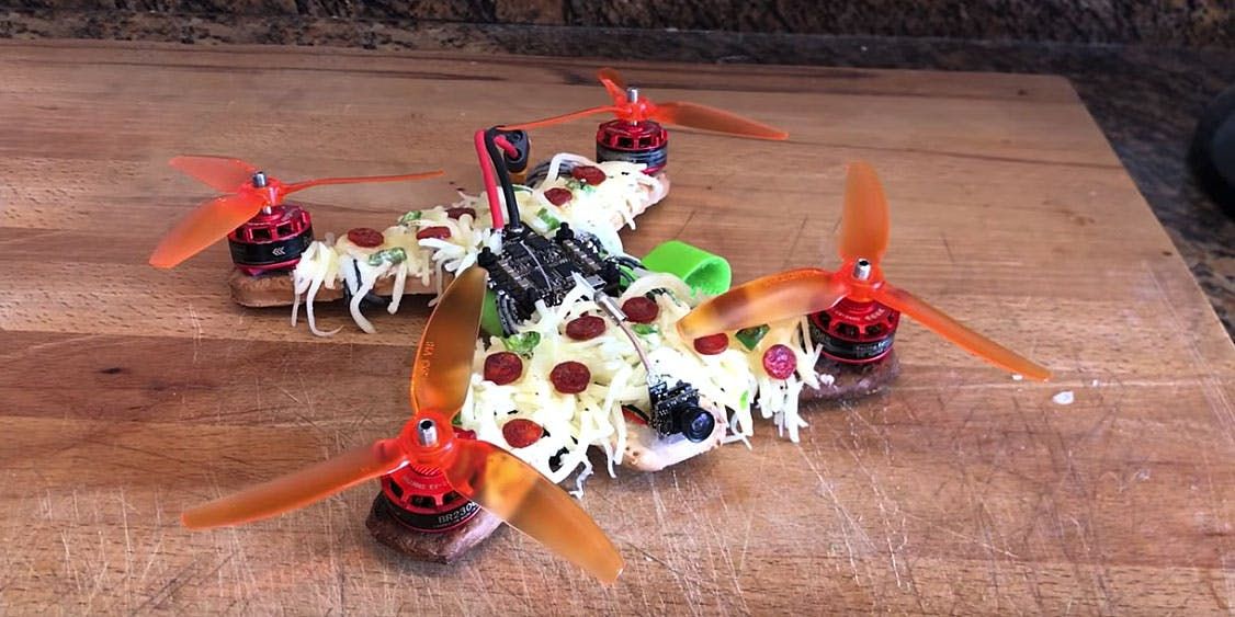 A Drone Made Entirely Out Of Pizza Successfully Takes Flight