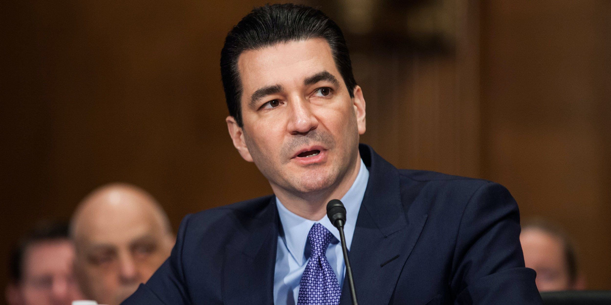 FDA Scott Gottlieb testifies during a Senate hearing