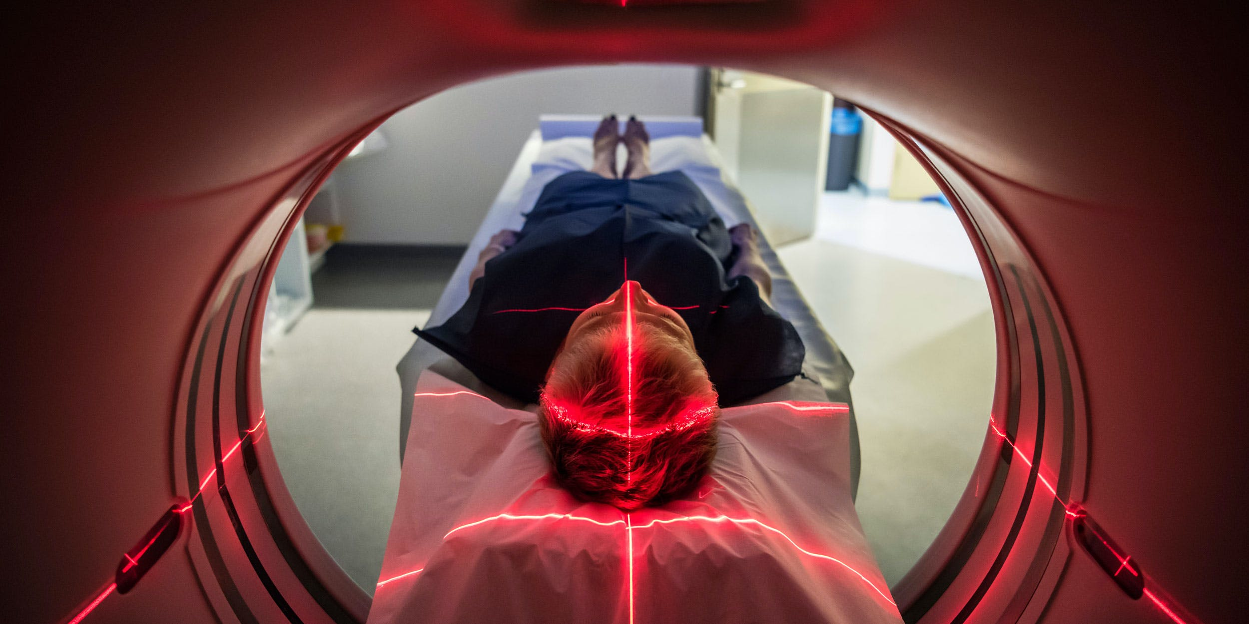 Person undergoing a CAT scan in New Mexico