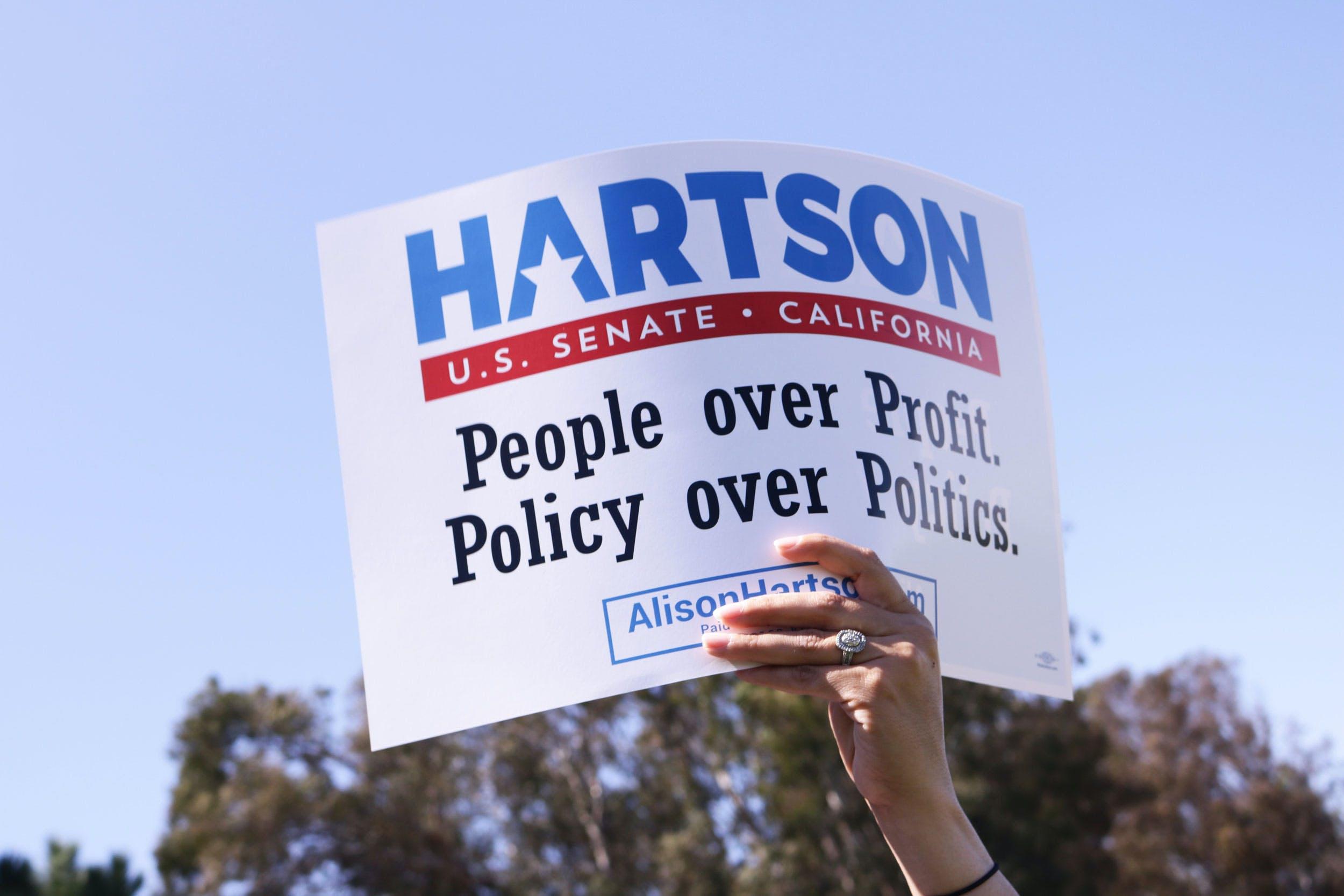 Pro cannabis Senate candidate Alison Hartson left out of polls in California Congress Blocks Recreational Marijuana Sales In Washington, D.C.