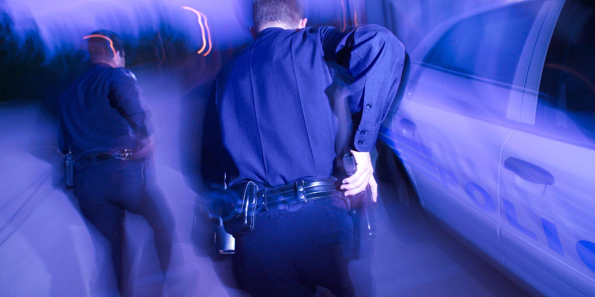Toronto cops running away