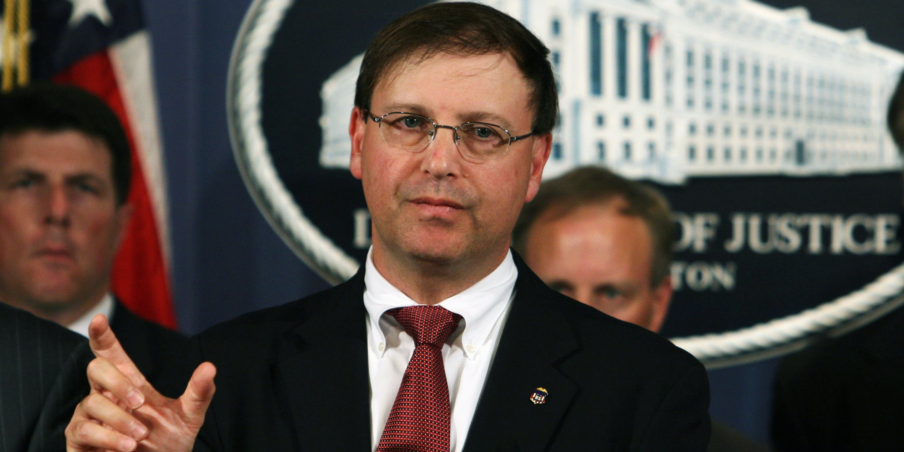 UNITED STATES - JUNE 04: Director of the DEA Chuck Rosenberg, then a US Attorney General of the Eastern District of Virginia, speaking at a news conference at the Department of Justice in Washington, D.C., June 4, 2007. Experts remain uncertain about whether the DEA will reclassify Epidiolex or CBD itself following FDA approval of Epidiolex for epilepsy on Monday, June 25. (Photo by Chris Kleponis/Bloomberg via Getty Images)