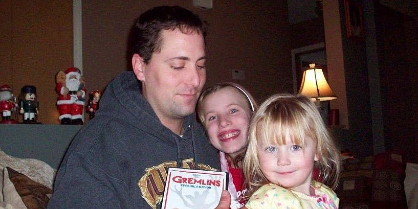 The late Adam Lee plays with his two children. Colorado has denied his wife, Erika Lee, full workers' compensation benefits after her husband was killed on the job with cannabis in his system.