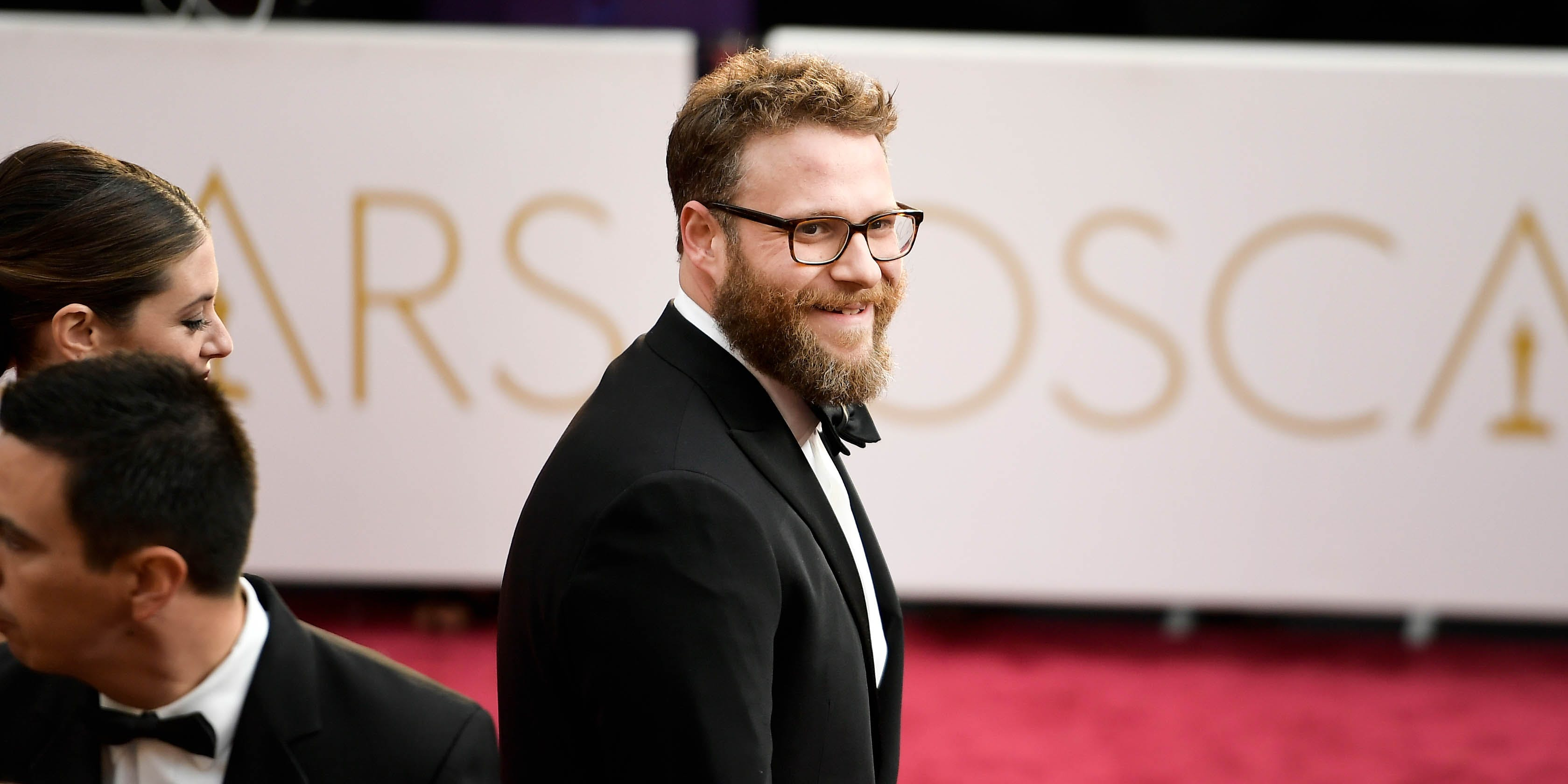 Comedian Seth Rogen attends the Academy Awards in Hollywood. But, he may have landed his most exciting role yet in Vancouver: voicing the city's SkyTrain announcements.