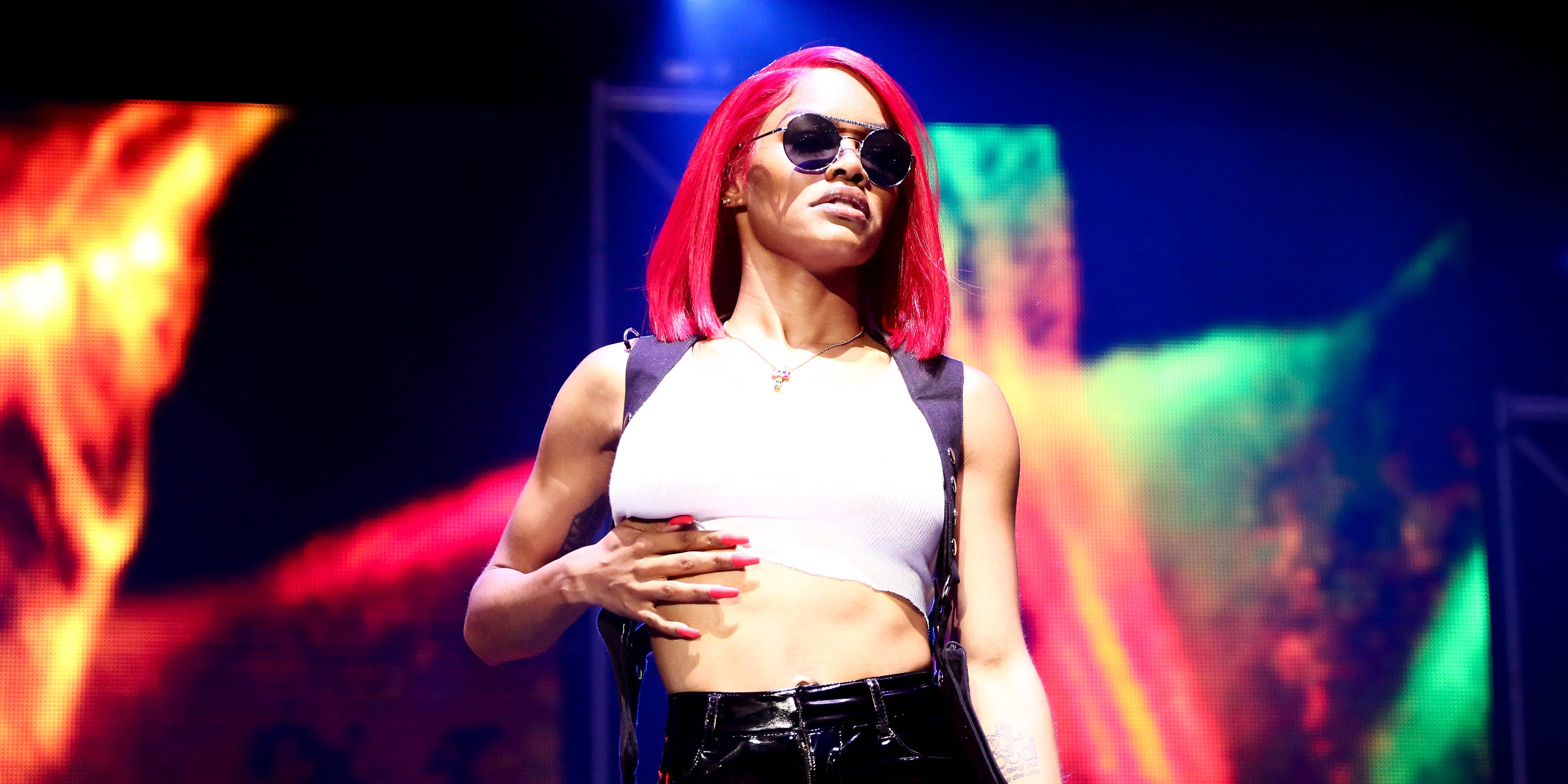 LOS ANGELES, CA - JUNE 22: Teyana Taylor performs at the 2018 BET Experience Staples Center Concert, sponsored by COCA-COLA, at L.A. Live on June 22, 2018 in Los Angeles, California. (Photo by Ser Baffo via Getty Images for BET)