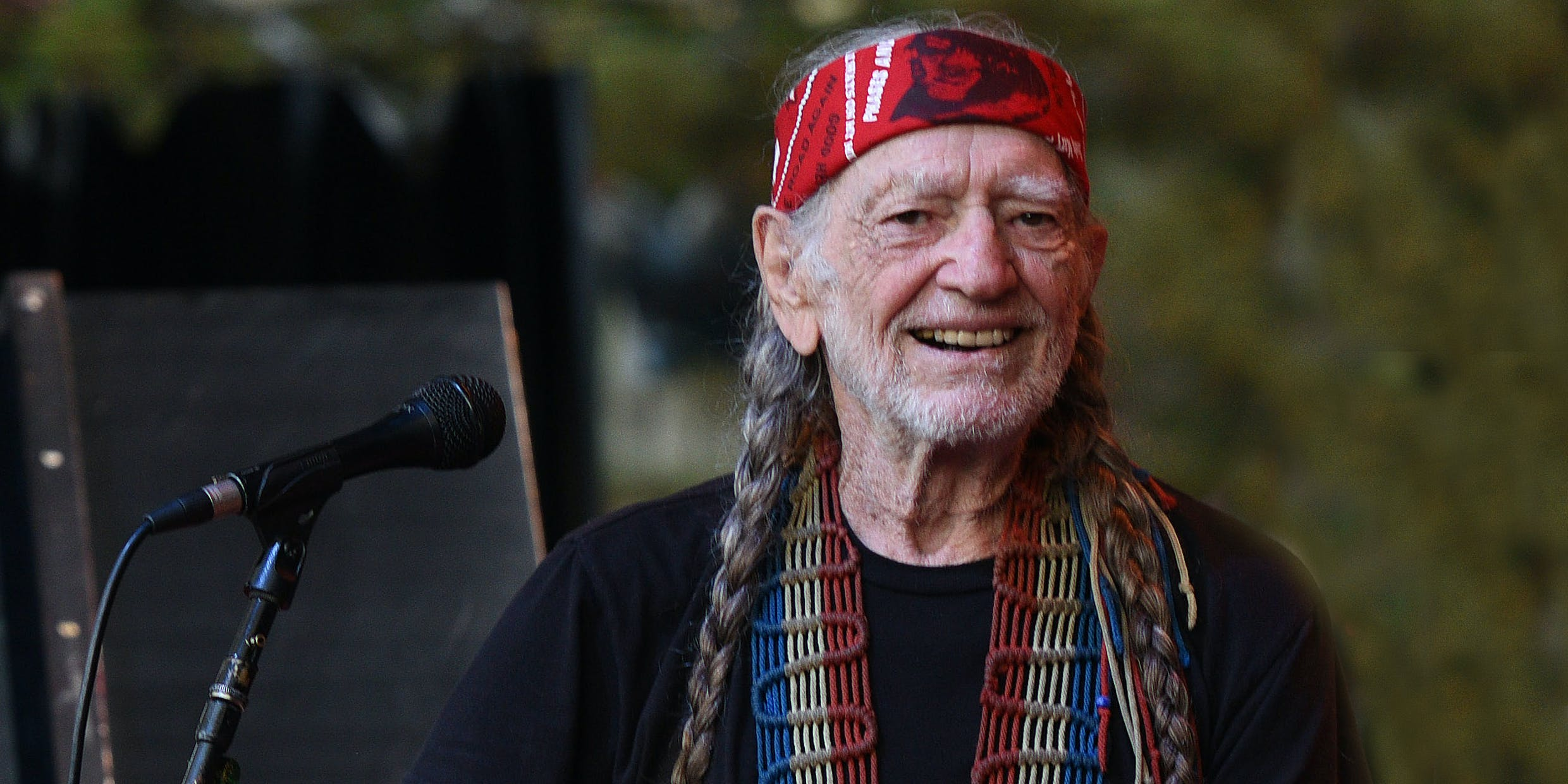 MOUNTAIN VIEW, CA - OCTOBER 23: Willie Nelson performs during the 30th Anniversary Bridge School Benefit Concert at Shoreline Amphitheatre on October 23, 2016 in Mountain View, California. LivWell, a Canadian cannabis producer, recently announced that they'll be distributing the singer's cannabis line, Willie's Reserve, in Canada