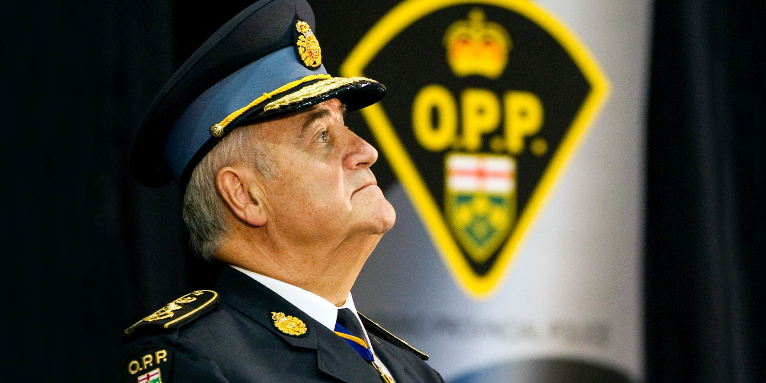 Outgoing OPP Commissioner Julian Fantino during the Ontario police forces change of command ceremony in Toronto. (Photo by Andrew Francis Wallace/Toronto Star via Getty Images)