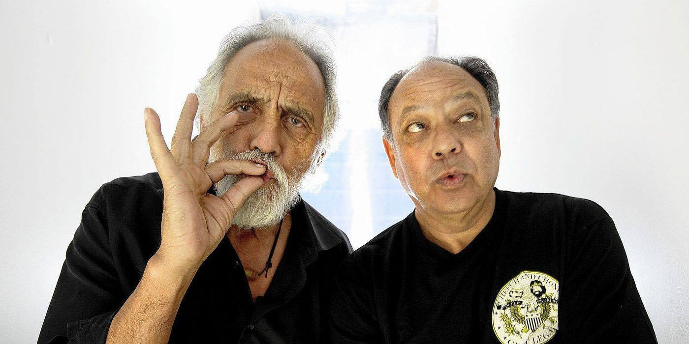 Big Doink Energy (BDE) is the cannabis equivalent of Big Dick Energy. If anyone has it, it's Cheech and Chong, pictured here.