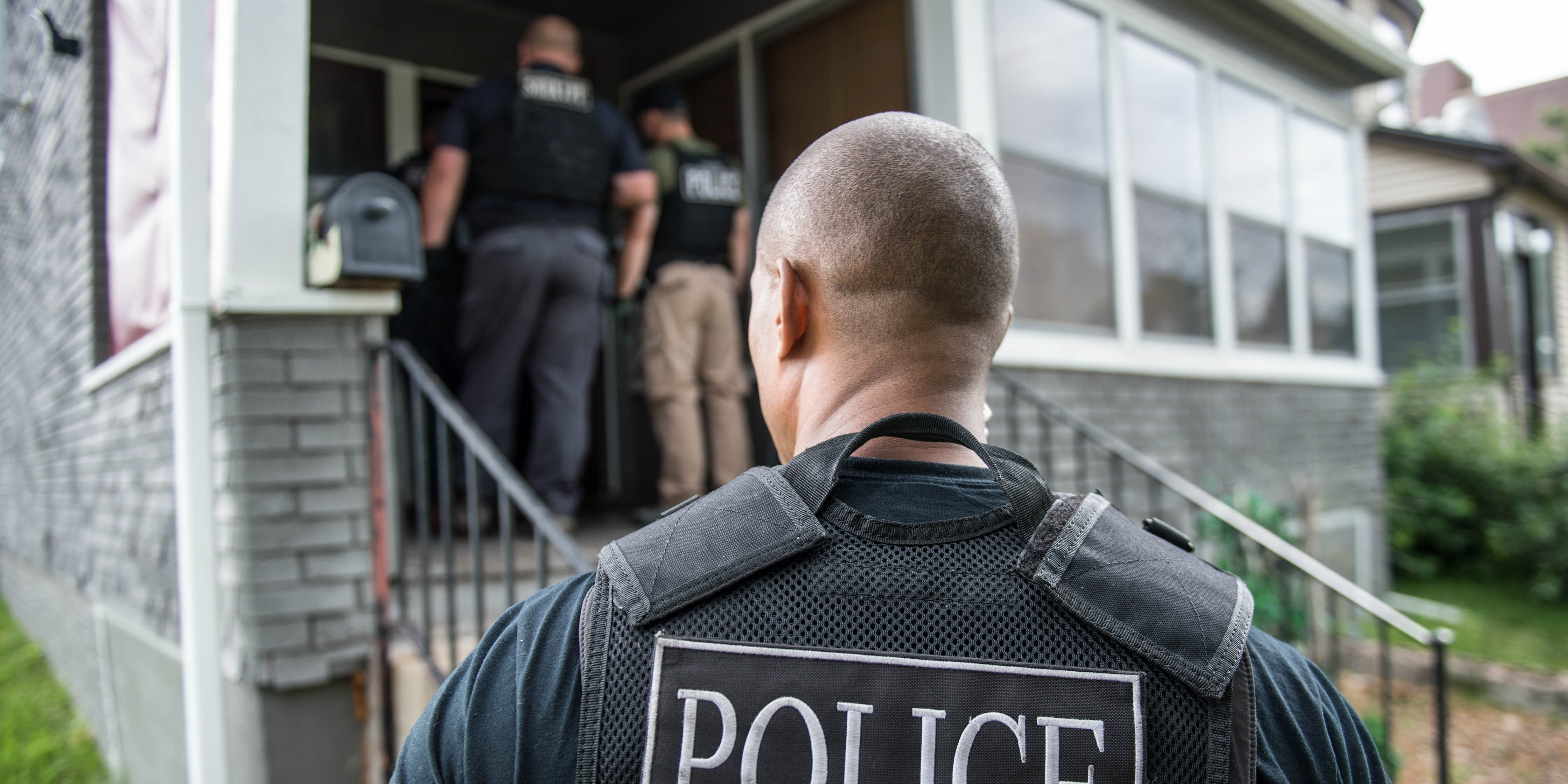 Denver police recently raided illegal grows in Canada. Here, The US Marshals Service, Omaha Police Department and numerous other state and local agencies are shown in an operation to crack down on gang members