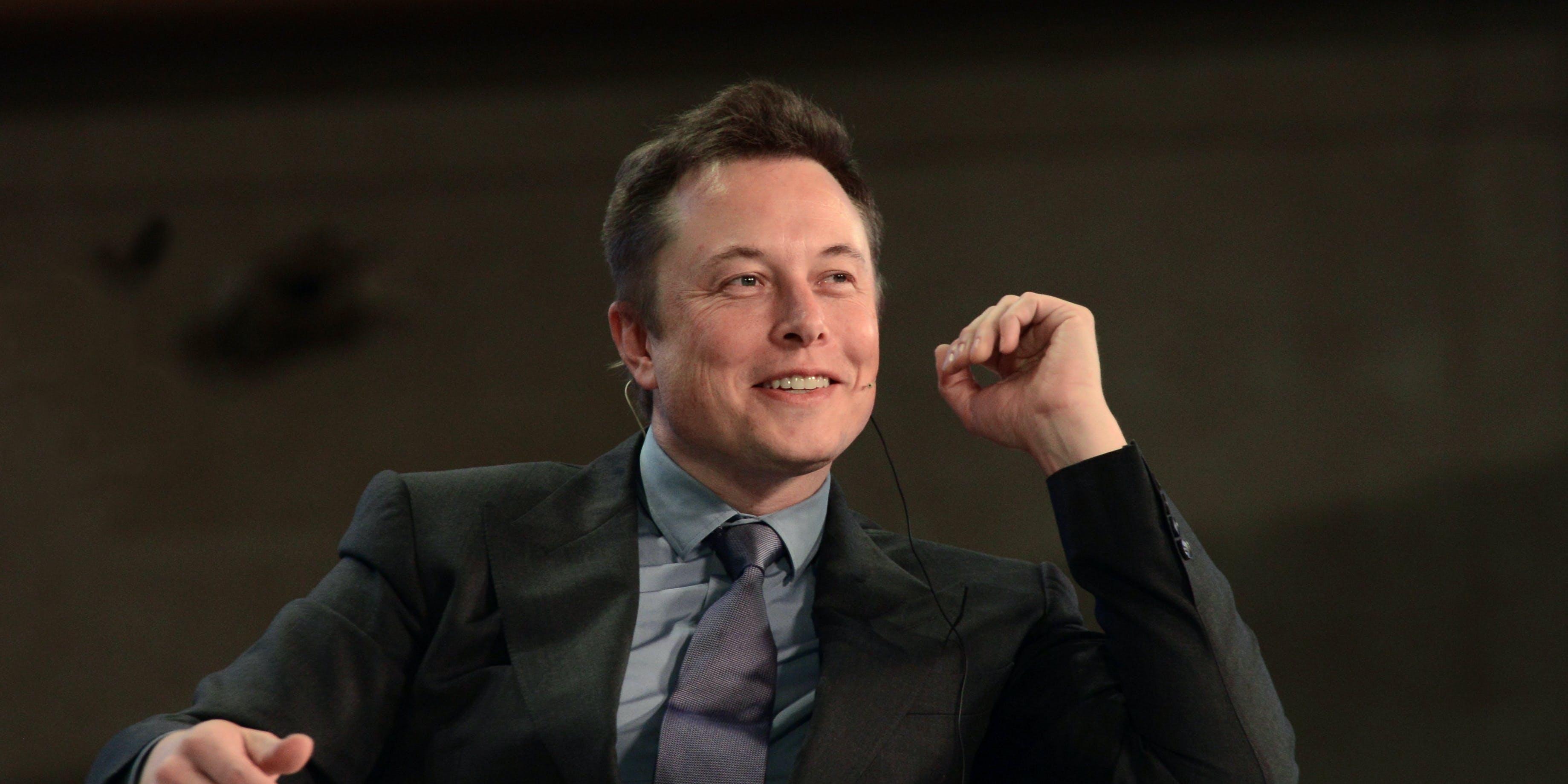 """BEIJING, CHINA - APRIL 21: CEO of Tesla Motors Elon Musk attends a television show """"Dialogue"""" taping at Zhongshan Park on April 21, 2014 in Beijing, China. (Photo by VCG via Getty Images)"""