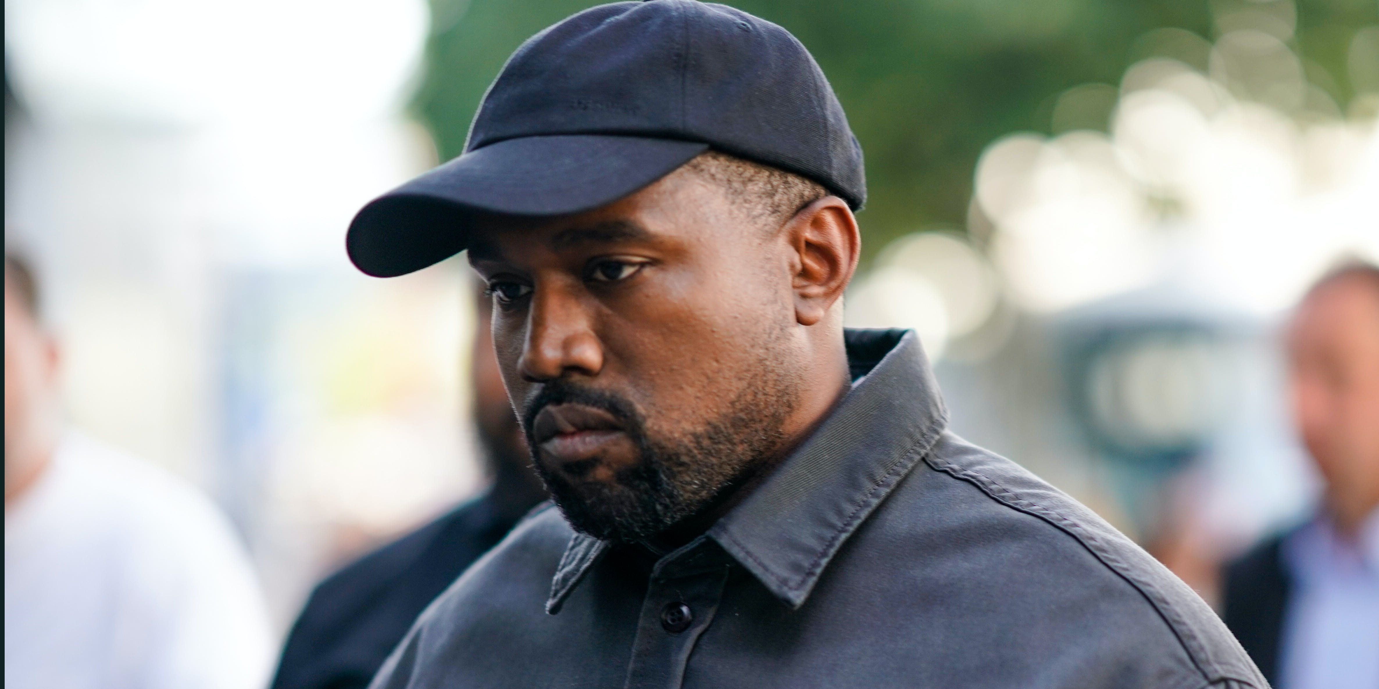 PARIS, FRANCE - JUNE 24: Kanye West is seen, outside 1017 ALYX 9SM show, during Paris Fashion Week Menswear Spring/Summer 2019, on June 24, 2018 in Paris, France. (Photo by Edward Berthelot/GC via Getty Images)