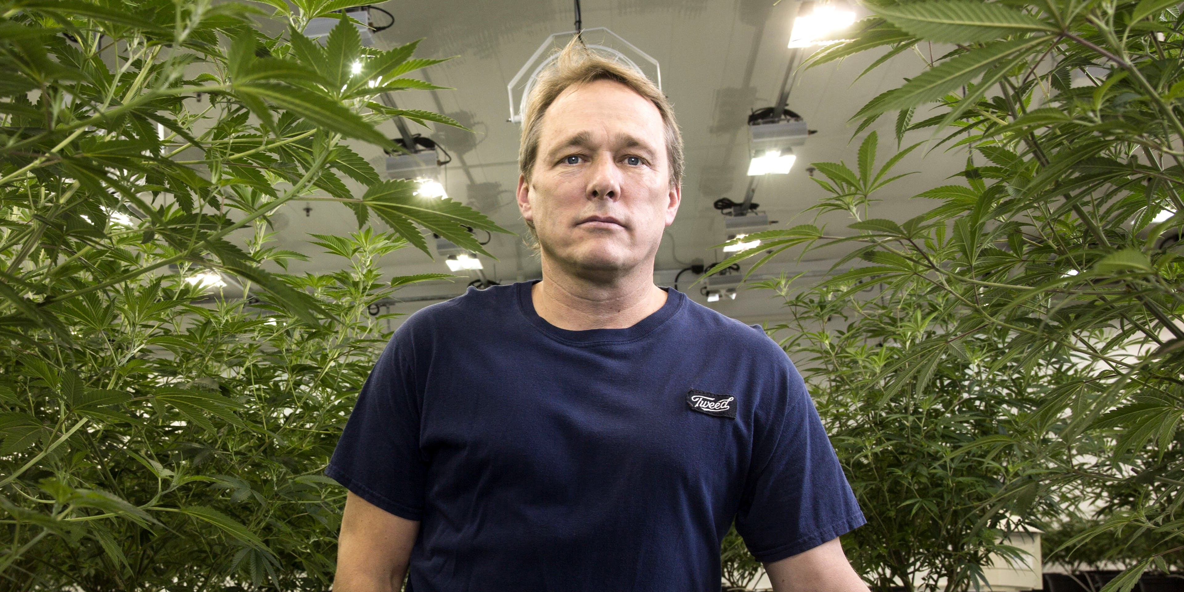 Bruce Linton, chief executive officer of Canopy Growth Corp., stands for a photograph in the Mother Room at the Canopy Growth Corp. facility in Smith Falls, Ontario, Canada, on Tuesday, Dec. 19, 2017. Canadian medical marijuana is setting the stage to go global. Canopy received $200 million from Constellation Brands last year. Now, the makers of Corona are looking to give the licensed producer another $5 billion.