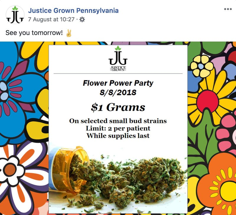 Pennsylvania cracks down on dispensary for selling cannabis for 1 a gram e1534792713609 Pennsylvania Dispensary Gets in Trouble for Selling Dollar Grams
