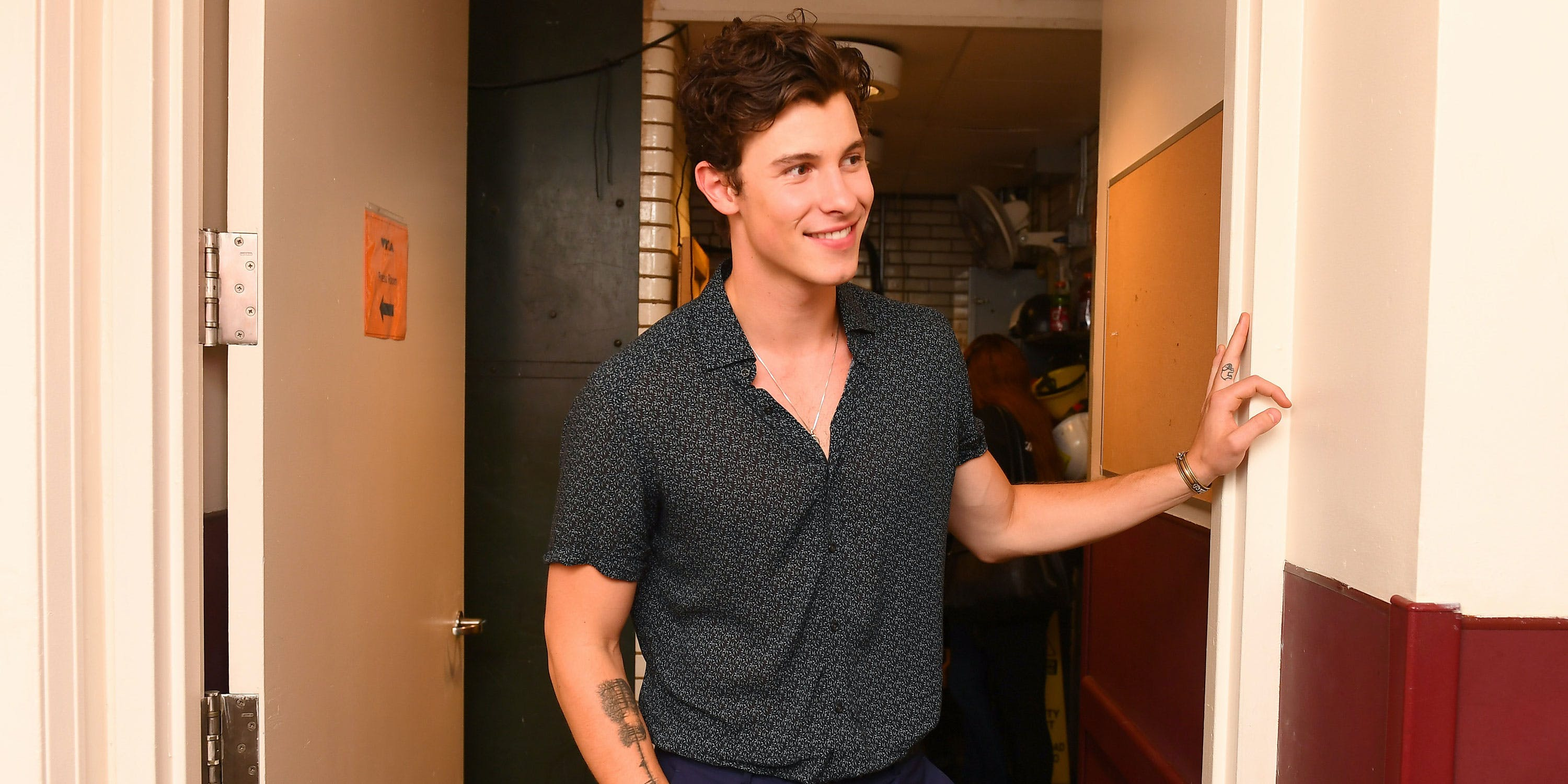 Shawn Mendes poses backstage during the 2018 MTV Video Music Awards at Radio City Music Hall on August 20, 2018 in New York City. He spoke with a reporter before the MMVAs about the best music for smoking weed. (Photo by Nicholas Hunt/VMN18/Getty Images)