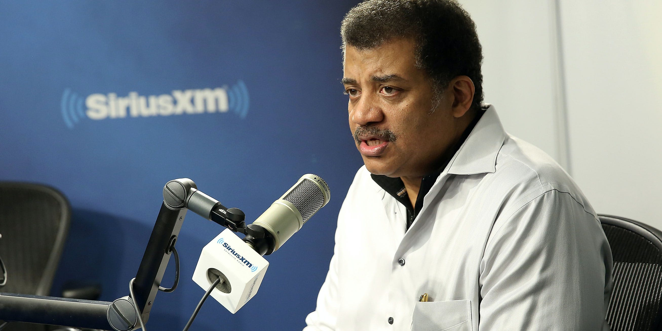 Astrophysicist Neil deGrasse Tyson visits SiriusXM Studios on November 13, 2017 in New York City. He recently defended Elon Musk smoking weed.