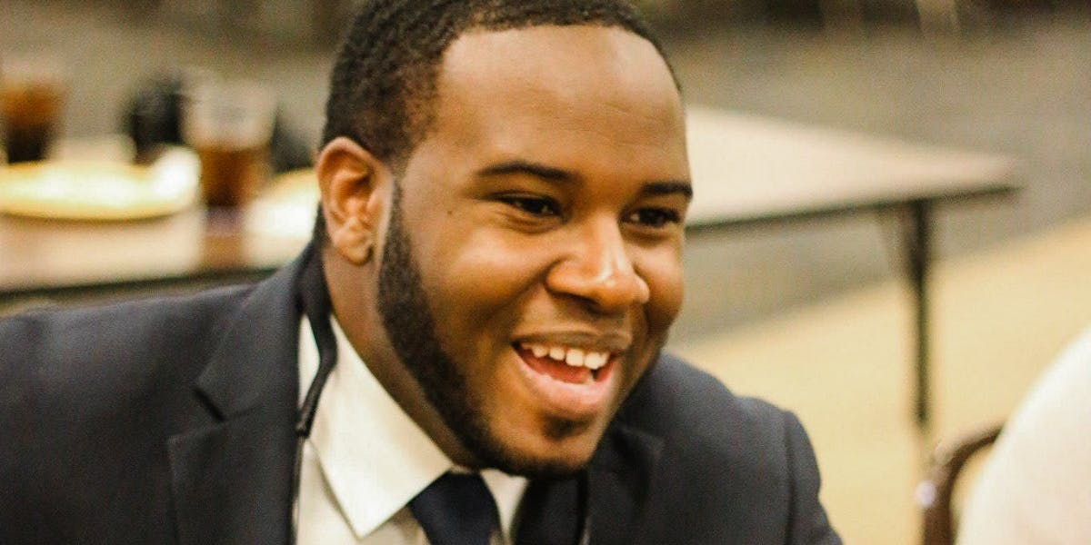 A photo of Botham Jean, who was fatally shot by a police officer in his apartment on Sept. 6.