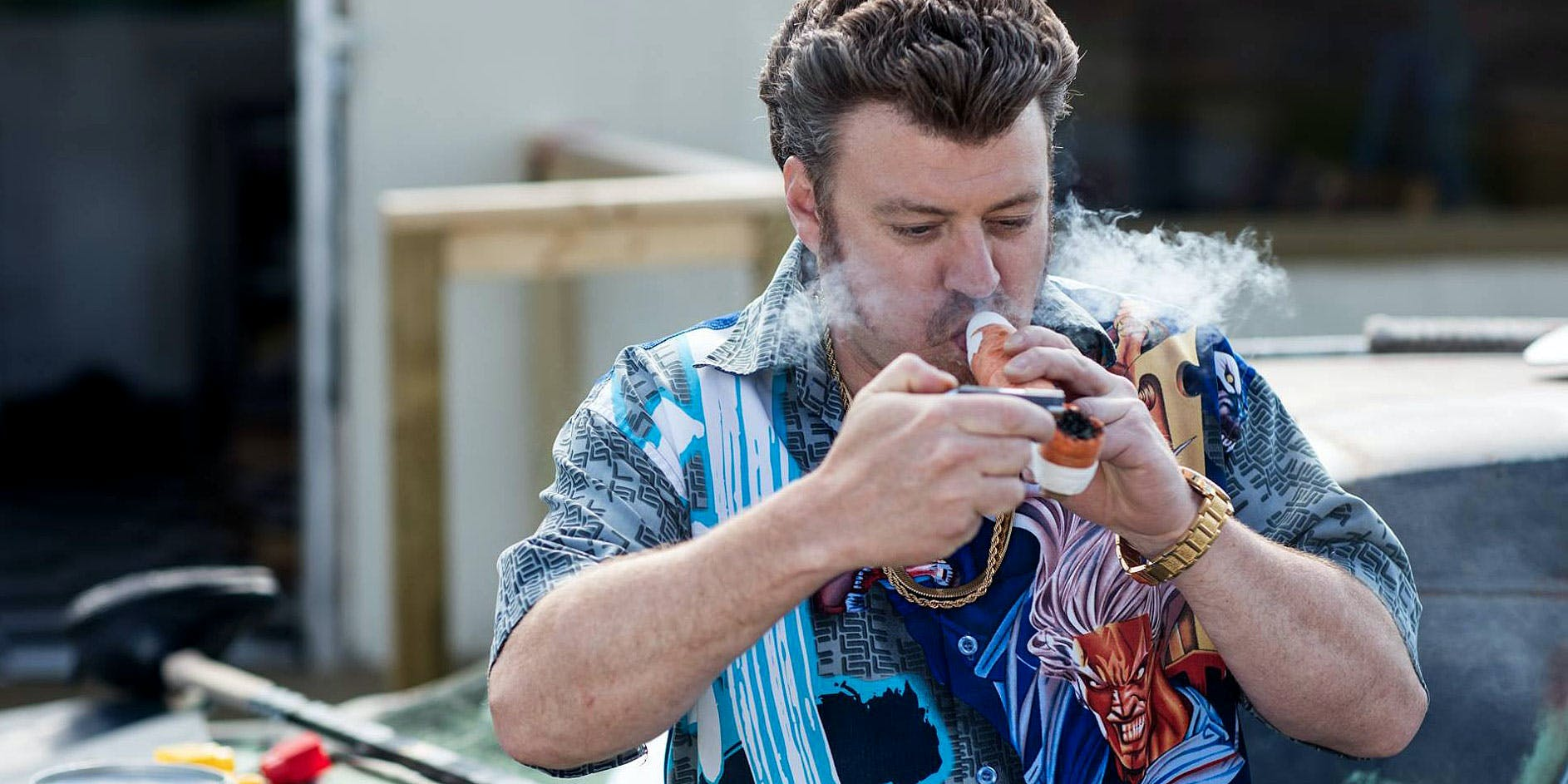Ricky from Trailer Park Boys hits a bowl