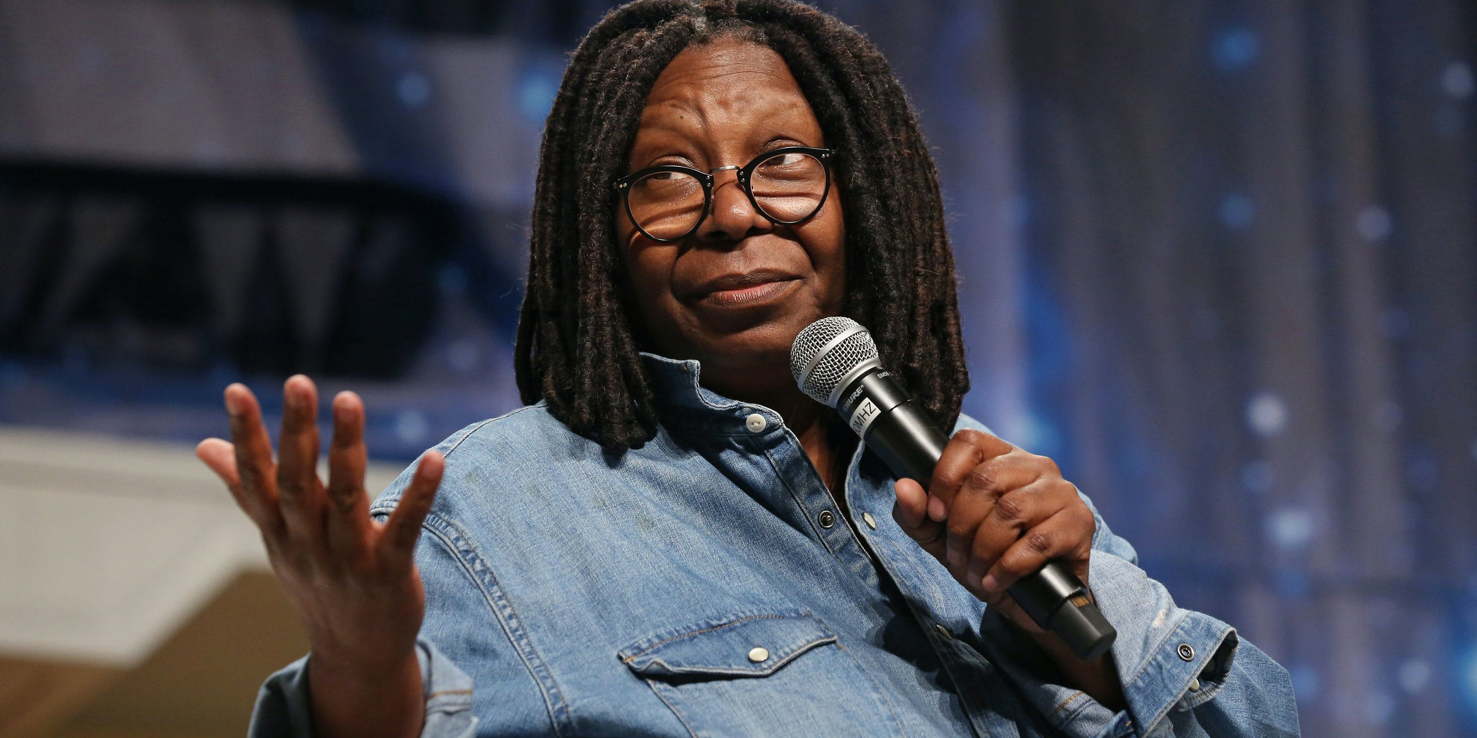 Actress Whoopi Goldberg speaks during the 15th annual official Star Trek convention at the Rio Hotel & Casino on August 4, 2016 in Las Vegas, Nevada. She recently penned an opEd from for the Orange County Register on why women should use cannabis. (Photo by Gabe Ginsberg/Getty Images)