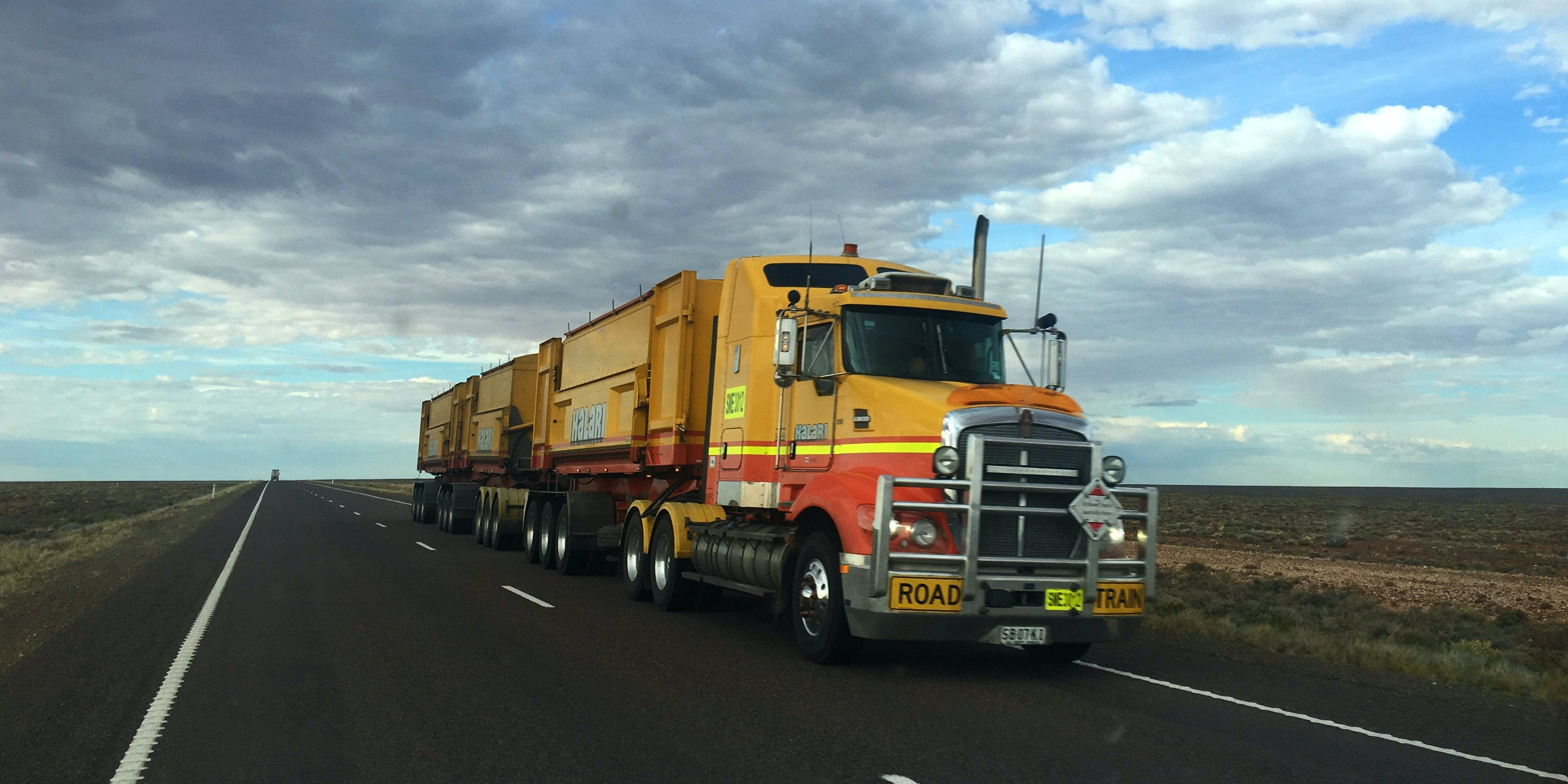 Will Oregon Be The First State To Allow weed shipments across state lines? Here, a semi truck is shown on a highway