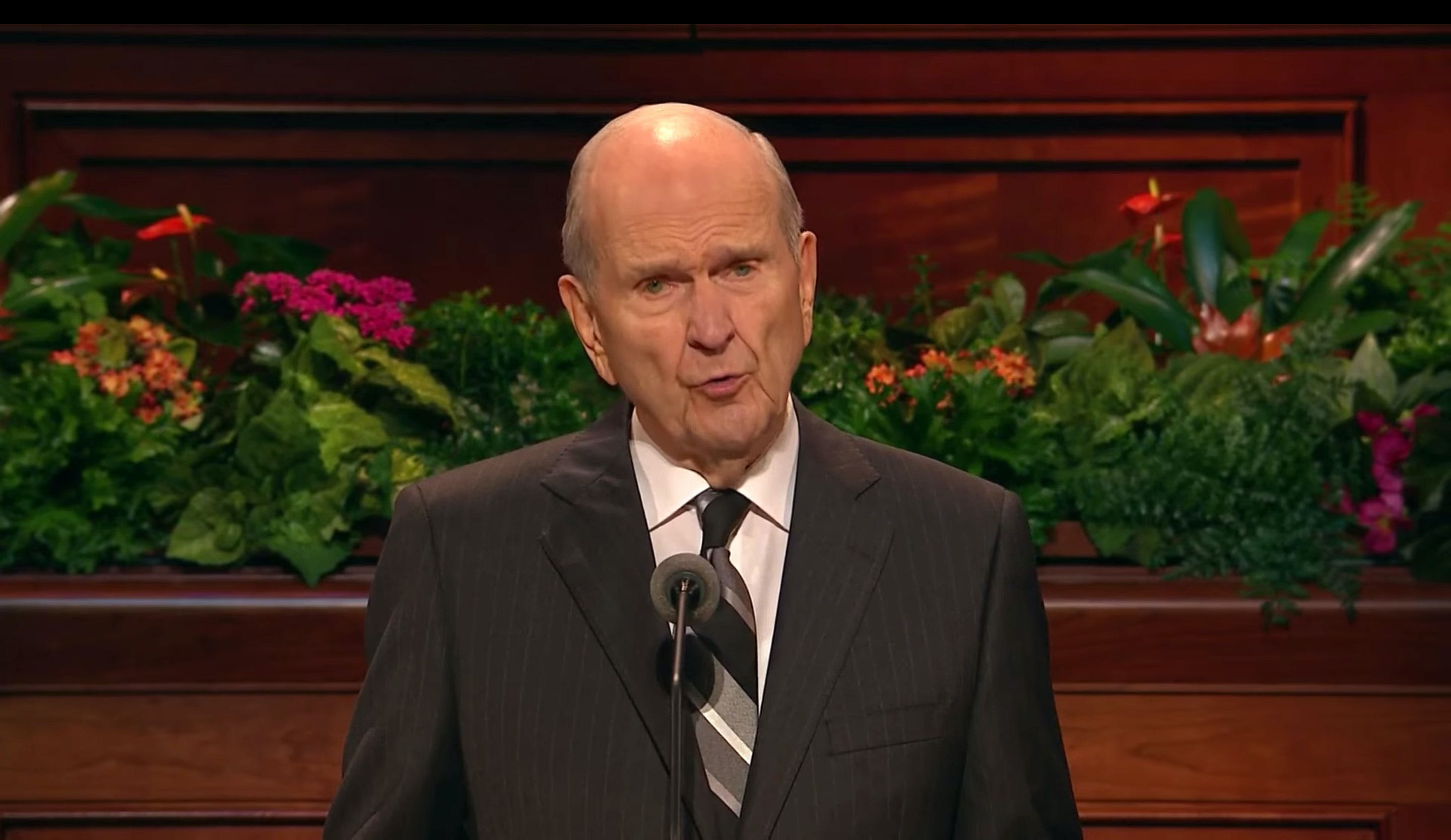 Mormon Church Backs Plan to Legalize Cannabis in Utah This Year. Here, President Russell M. Nelson appears opening the Saturday morning session of the 188th Semiannual General Conference of the Church at the Conference Center in Salt Lake City on October 6, 2018.