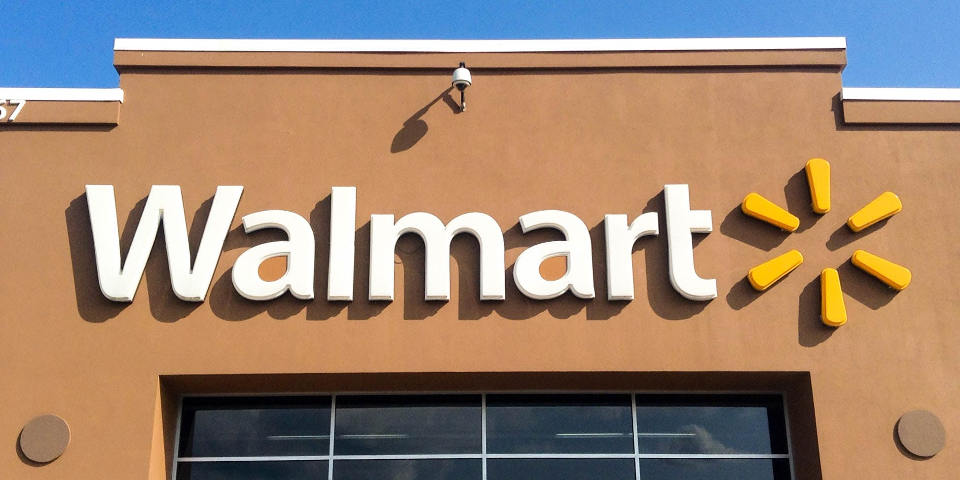 Walmart Considers Selling Cannabis-Infused Products. Here, the exterior of a walmart is shown