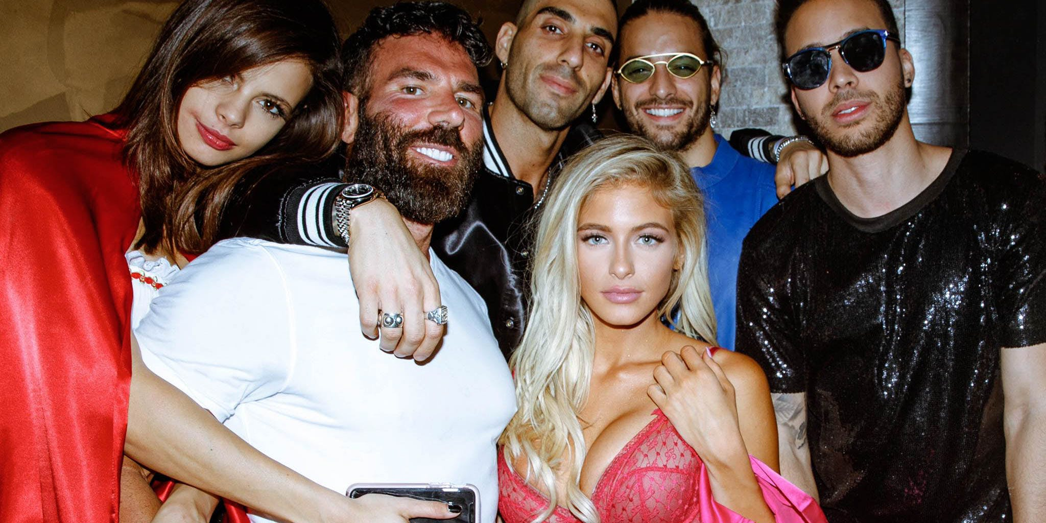 Dan Bilzerian at his Halloween party.