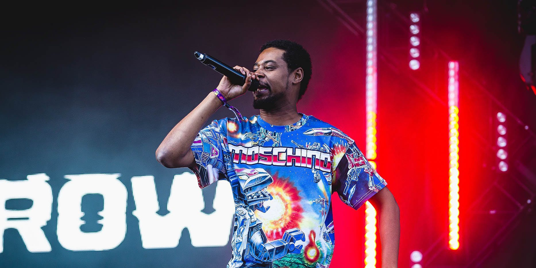 Danny Brown performs onstage. One of his songs is listed in Herb's roundup of the best rap songs about weed.