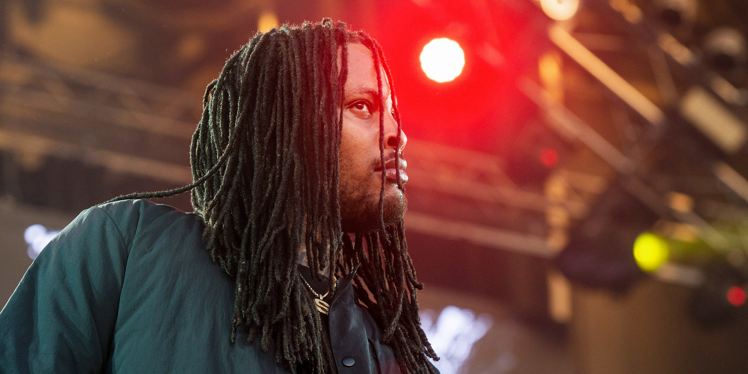 Waka Flocka performs onstage. The rapper recently fired Seth Rogen as his professional joint roller.