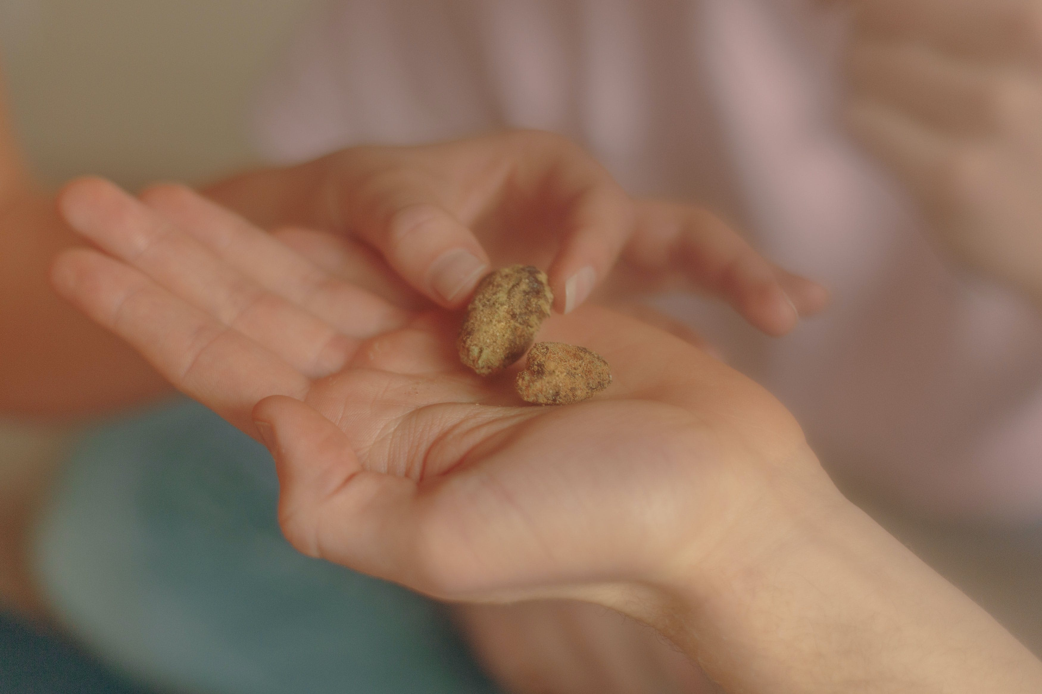 What are moon rocks: Moon rocks in a hand