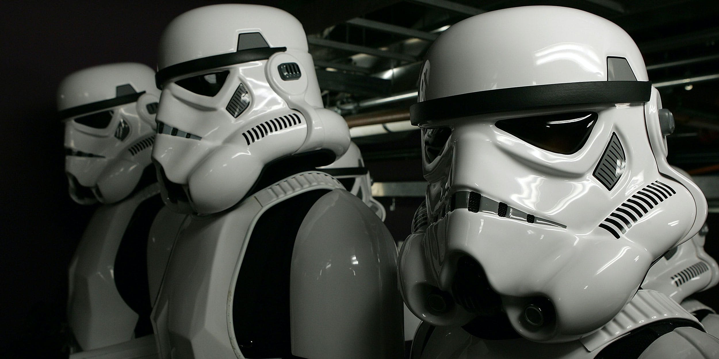 Storm Troopers prepare for the show during the 33rd AFI Life Achievement Award